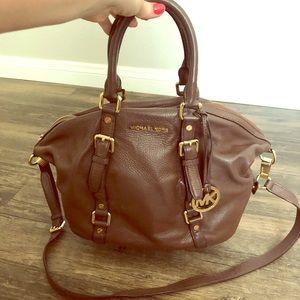 Beautiful brown leather MK bag